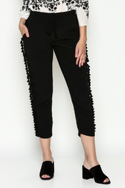 Cousin Earl Black Pom Pom Pants - Front cropped