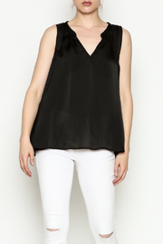 Cousin Earl Black Silk tank - Front cropped