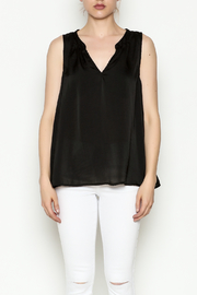 Cousin Earl Black Silk tank - Front full body