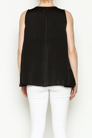 Cousin Earl Black Silk tank - Back cropped