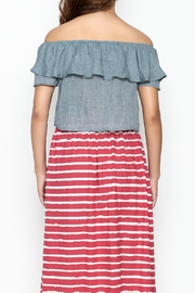 Cousin Earl Chambray Top - Back cropped