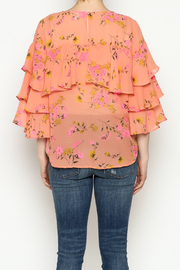 Cousin Earl Peach Floral Top - Back cropped