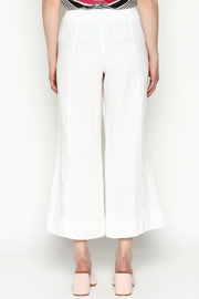 Cousin Earl White Linen Pants - Back cropped