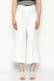 Cousin Earl White Linen Pants - Front full body