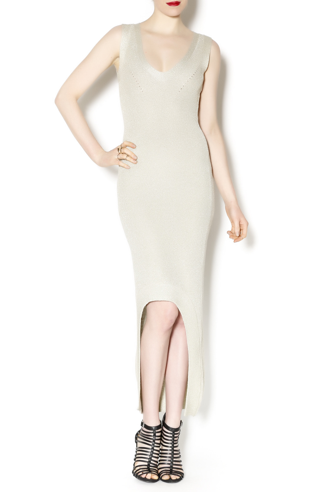 Wow Couture Couture Gold Dress - Front Cropped Image
