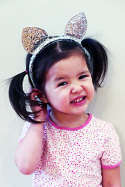 Couture Clips Glitter Cat Ears - Front full body