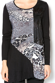 Cover Charge Black Leopard Tunic - Other