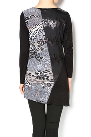 Cover Charge Black Leopard Tunic - Back cropped