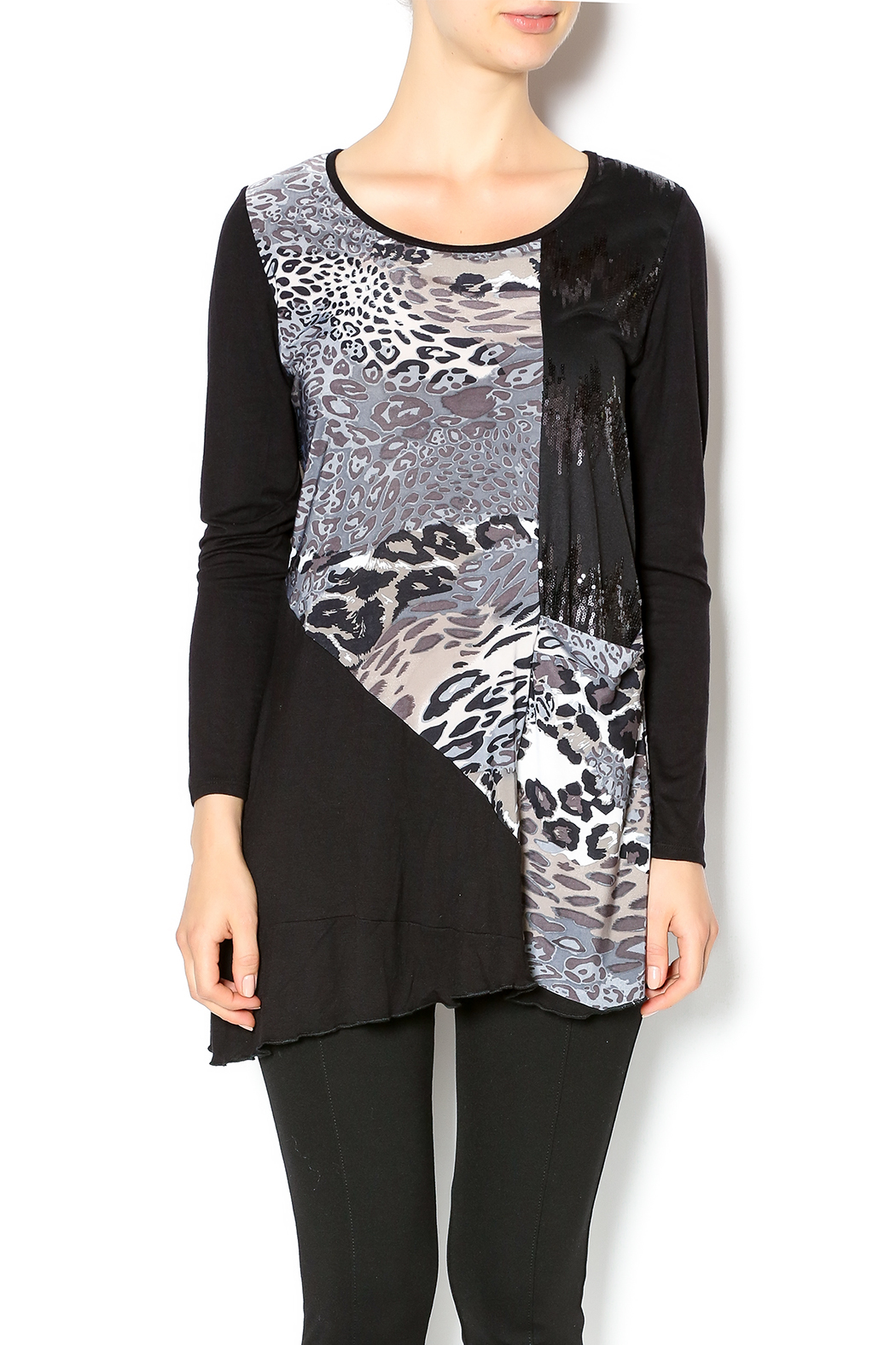 Cover Charge Black Leopard Tunic - Main Image