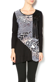 Cover Charge Black Leopard Tunic - Front cropped