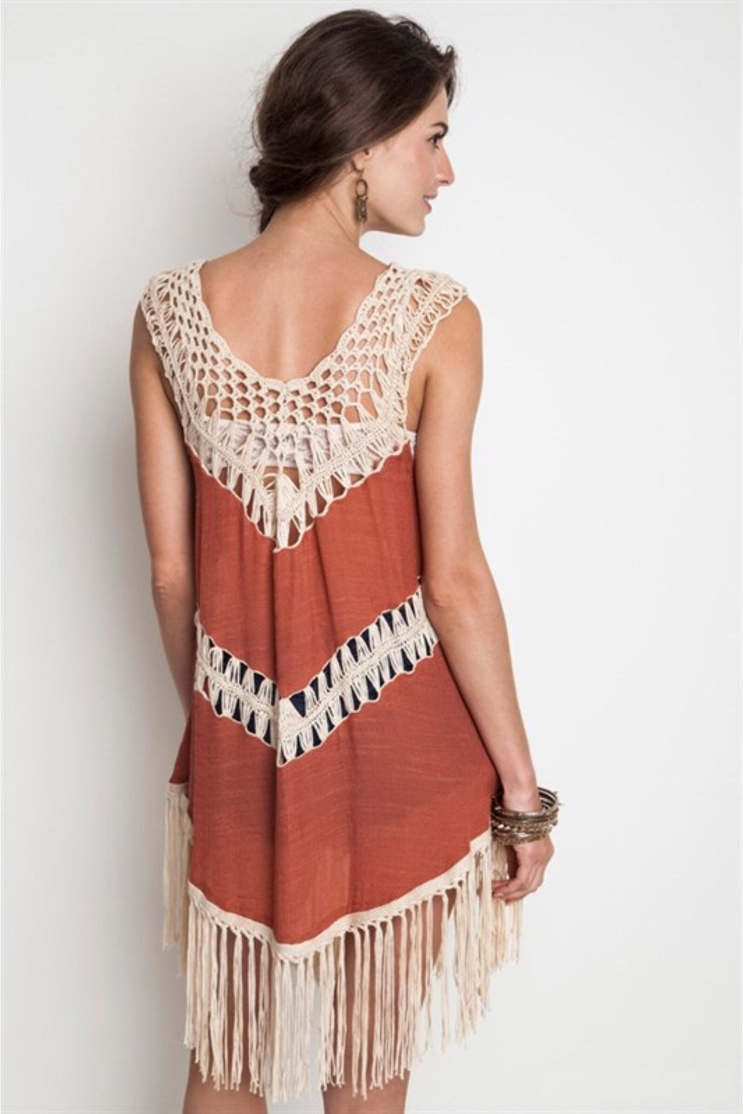 People Outfitter Cover-Up Tunic Dress - Front Full Image