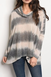 COVERSTITCHED Cowl Neck Top - Product Mini Image