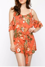 COVERSTITCHED Fall Back Romper - Front cropped
