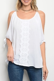 COVERSTITCHED White Coldshoulder - Product Mini Image