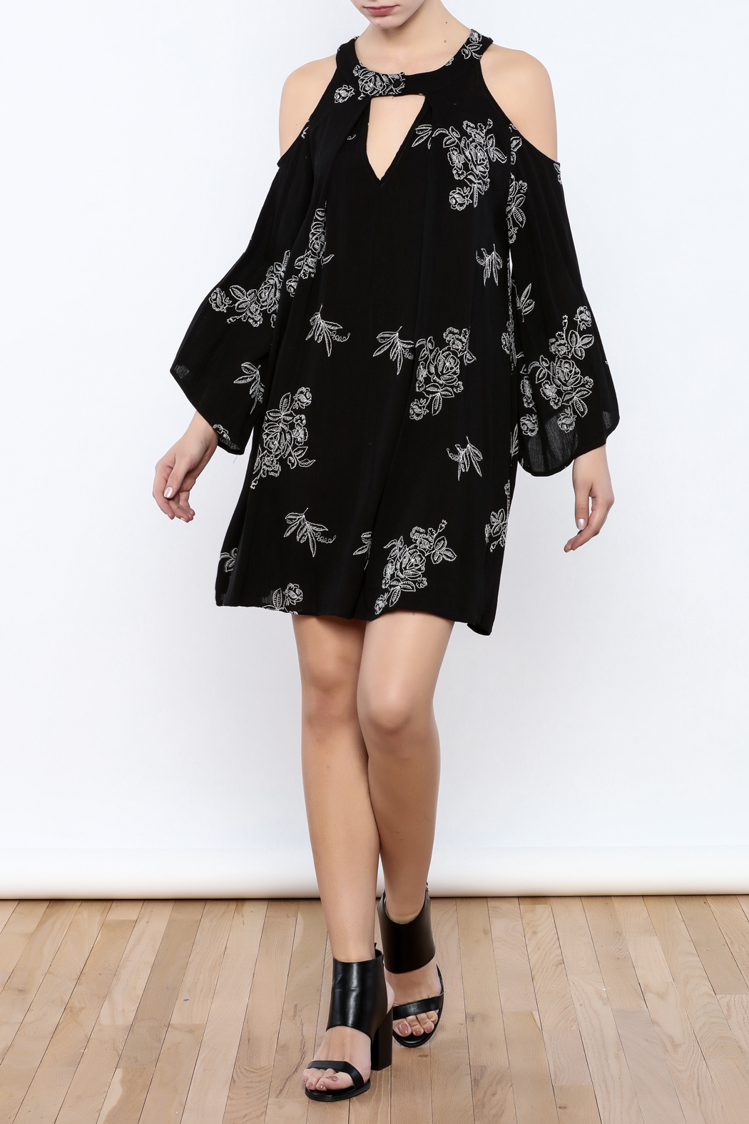 Coveted Clothing Embroidered Dress - Front Full Image