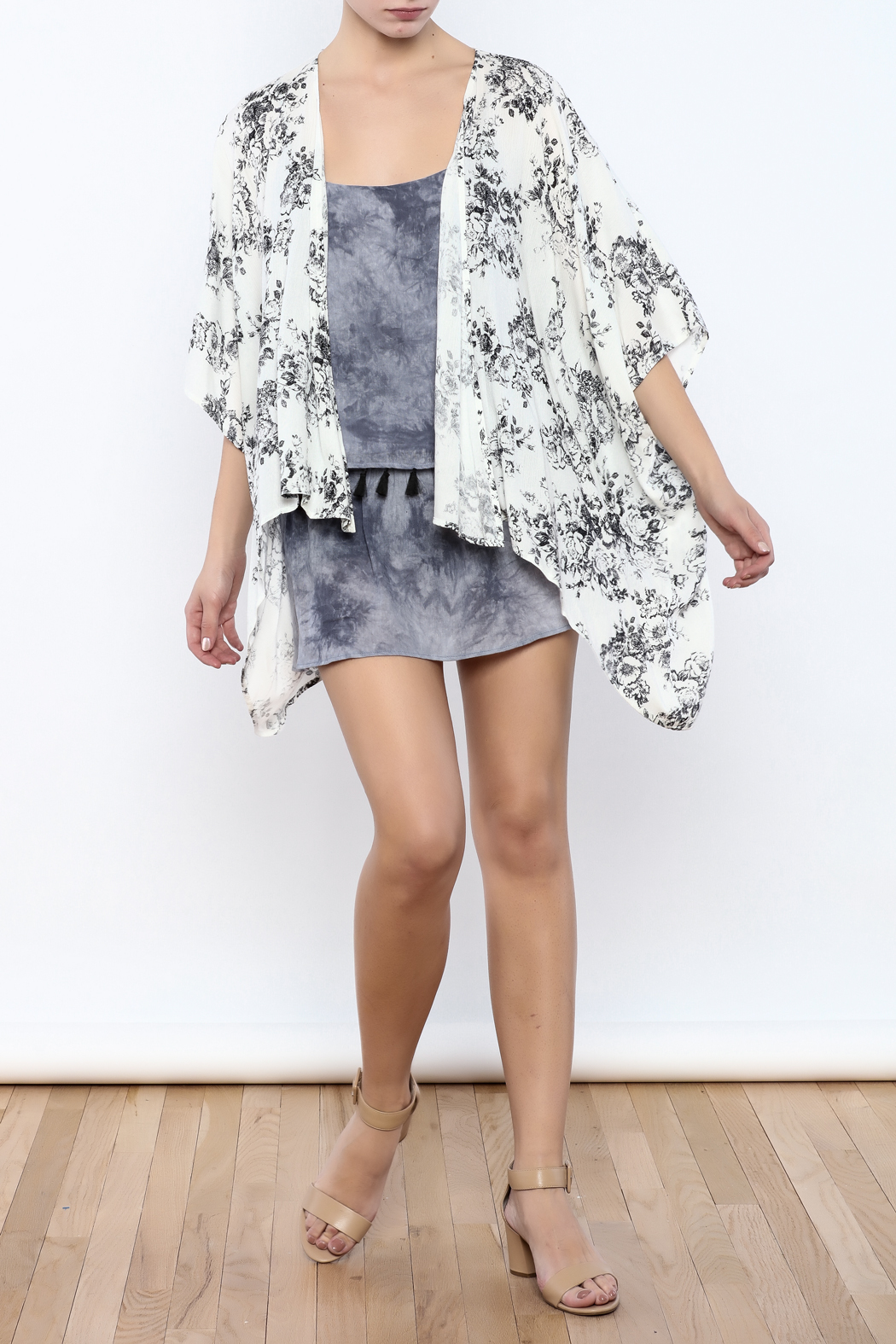 Coveted Clothing Floral Kimono - Front Full Image