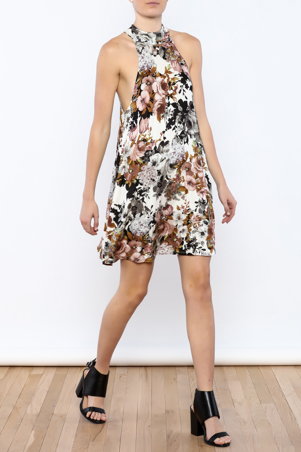 Coveted Clothing Floral A-line Dress - Front Full Image