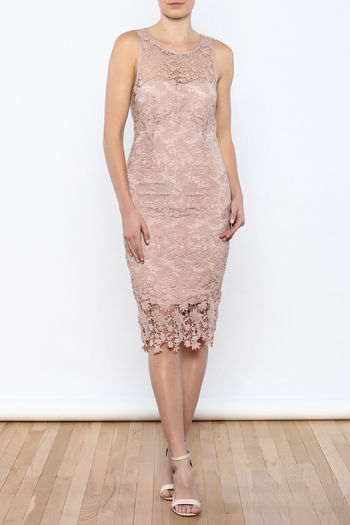 Coveted Clothing Lace Midi Dress - Main Image