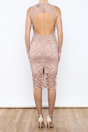 Coveted Clothing Lace Midi Dress - Back cropped