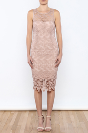 Coveted Clothing Lace Midi Dress - Front cropped