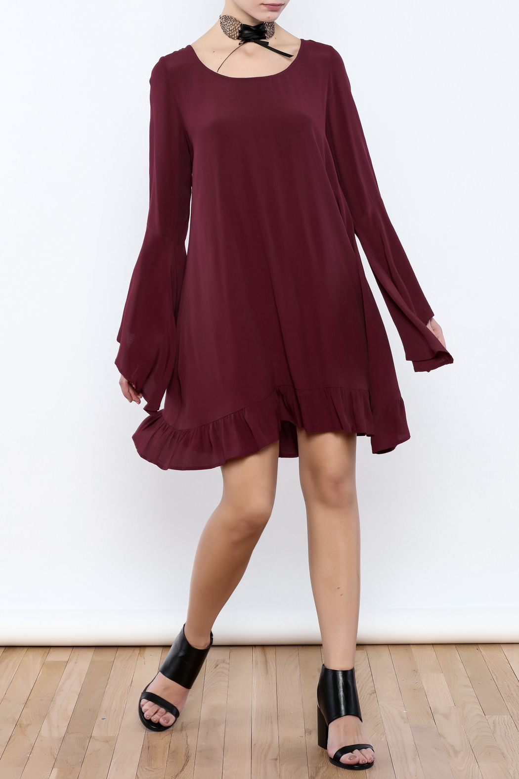 Coveted Clothing Long Flowy Dress - Front Full Image
