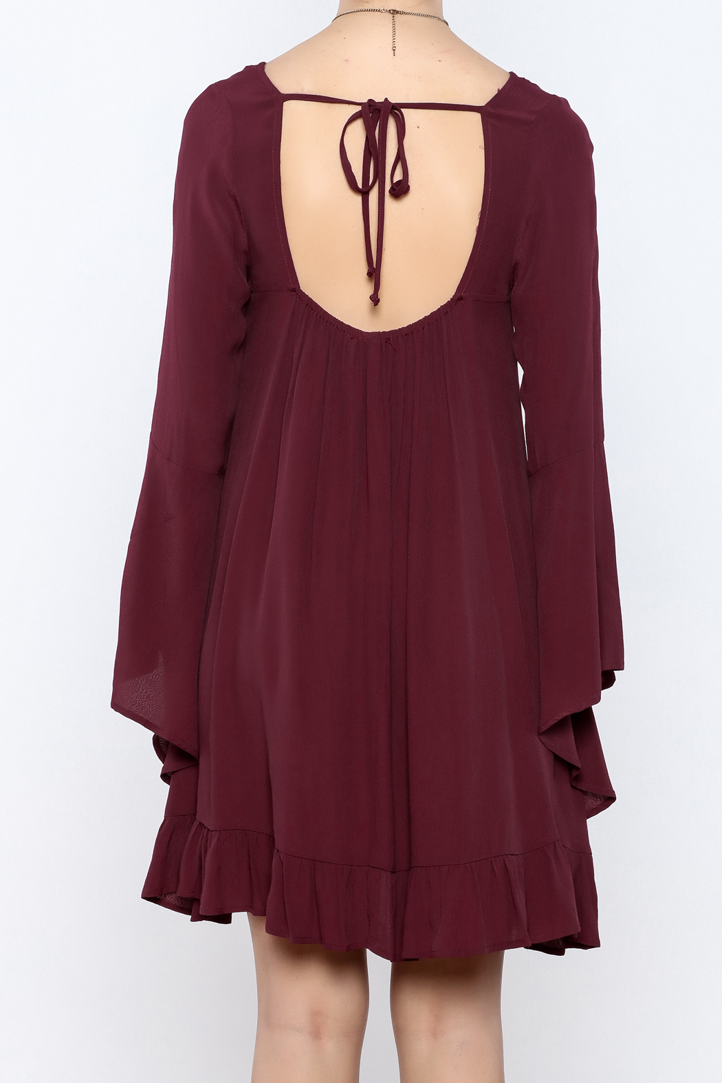 Coveted Clothing Long Flowy Dress - Back Cropped Image