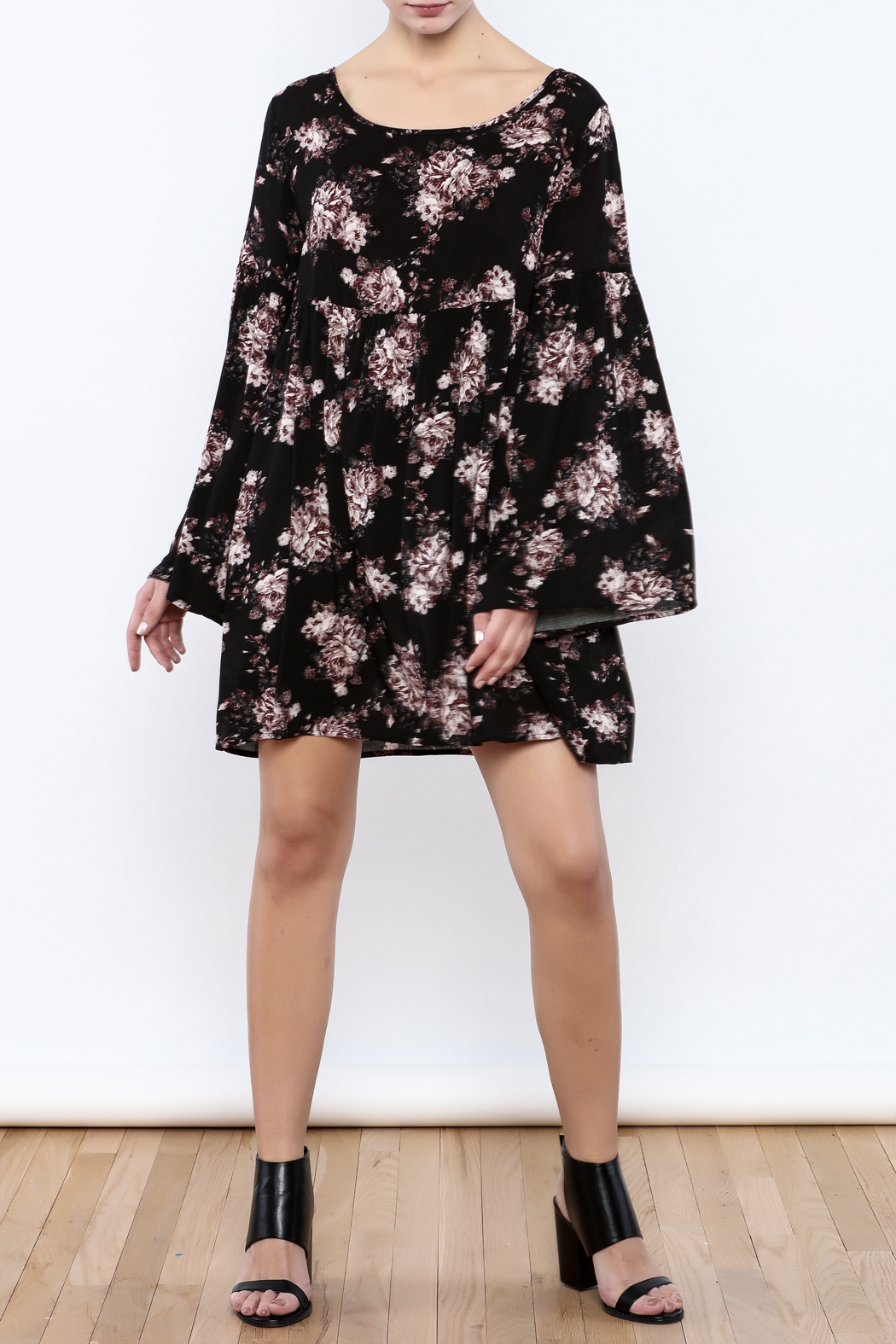Coveted Clothing Long Sleeve Dress - Front Full Image