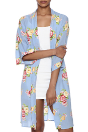 Coveted Clothing Peony Print Robe - Front cropped