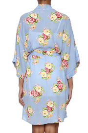 Coveted Clothing Peony Print Robe - Back cropped