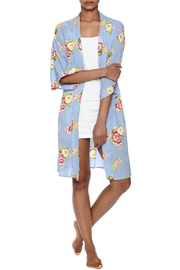 Coveted Clothing Peony Print Robe - Front full body