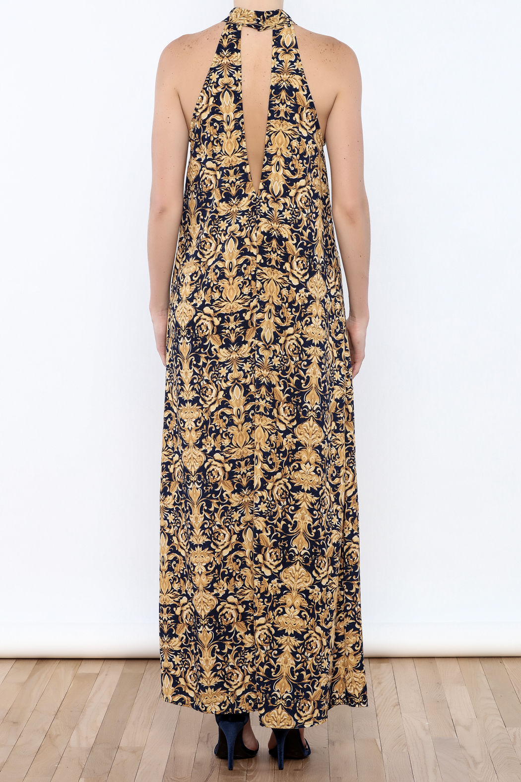 Coveted Clothing Printed Maxi - Back Cropped Image