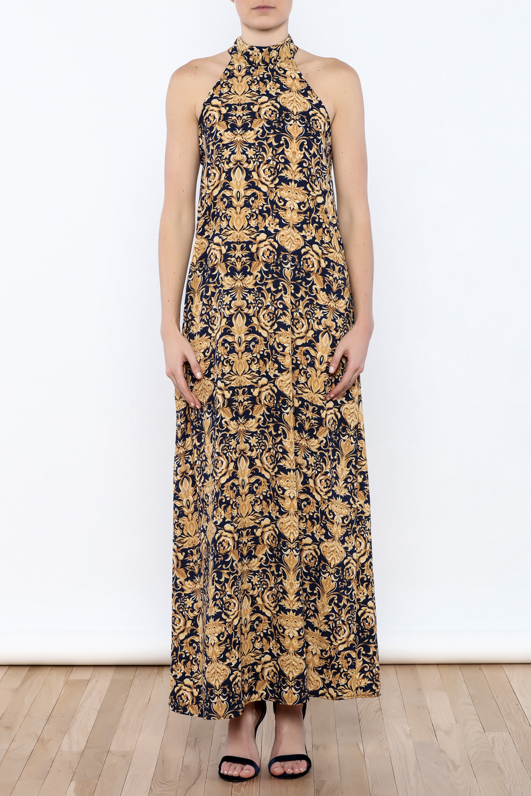 Coveted Clothing Printed Maxi - Front Cropped Image
