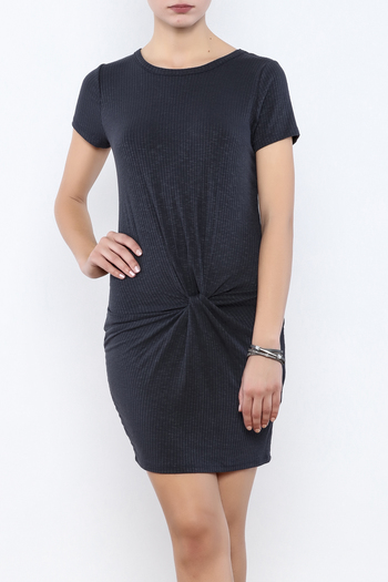Coveted Clothing Ribbed Knotted Dress - Main Image