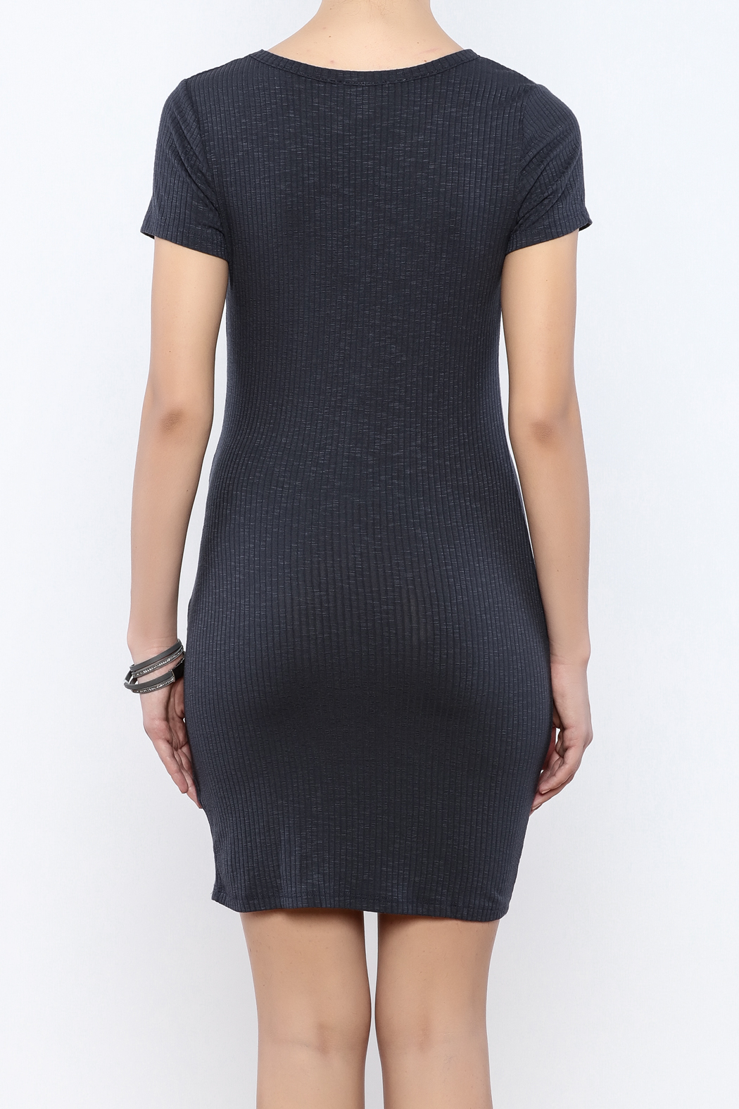 Ribbed Knotted Dress