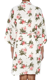 Coveted Clothing Rose Print Robe - Back cropped