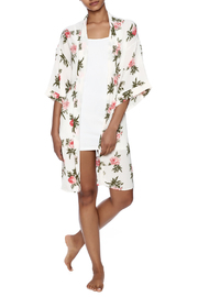 Coveted Clothing Rose Print Robe - Front full body