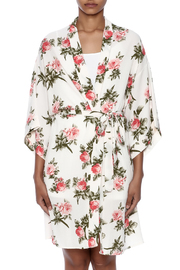 Coveted Clothing Rose Print Robe - Side cropped