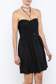 Shoptiques Product: Strapless Charcoal Dress