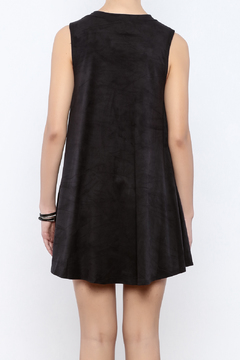 Coveted Clothing Faux Suede Tank Dress - Alternate List Image