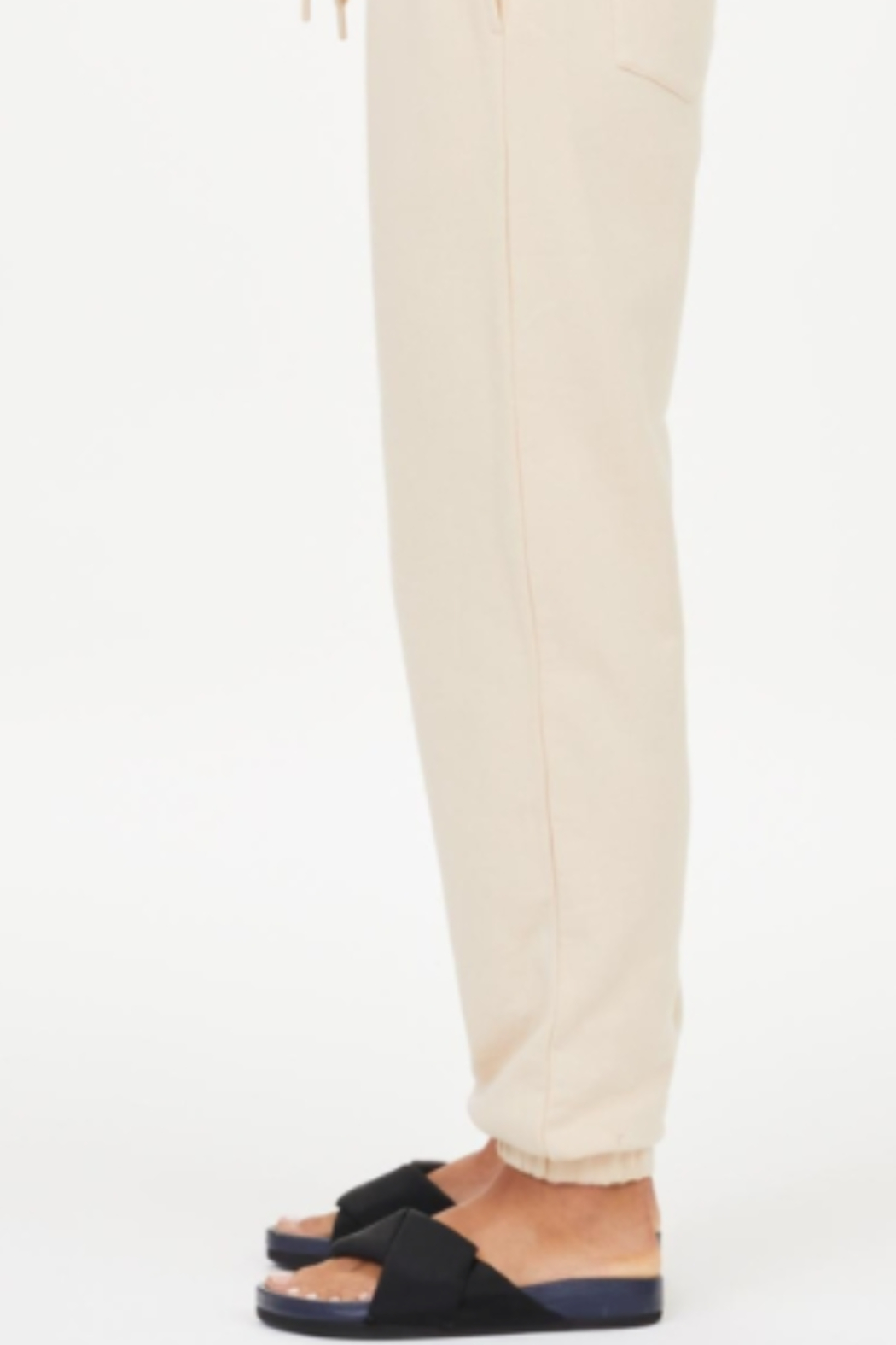 Upside Coveted Cream Joggers - Front Full Image