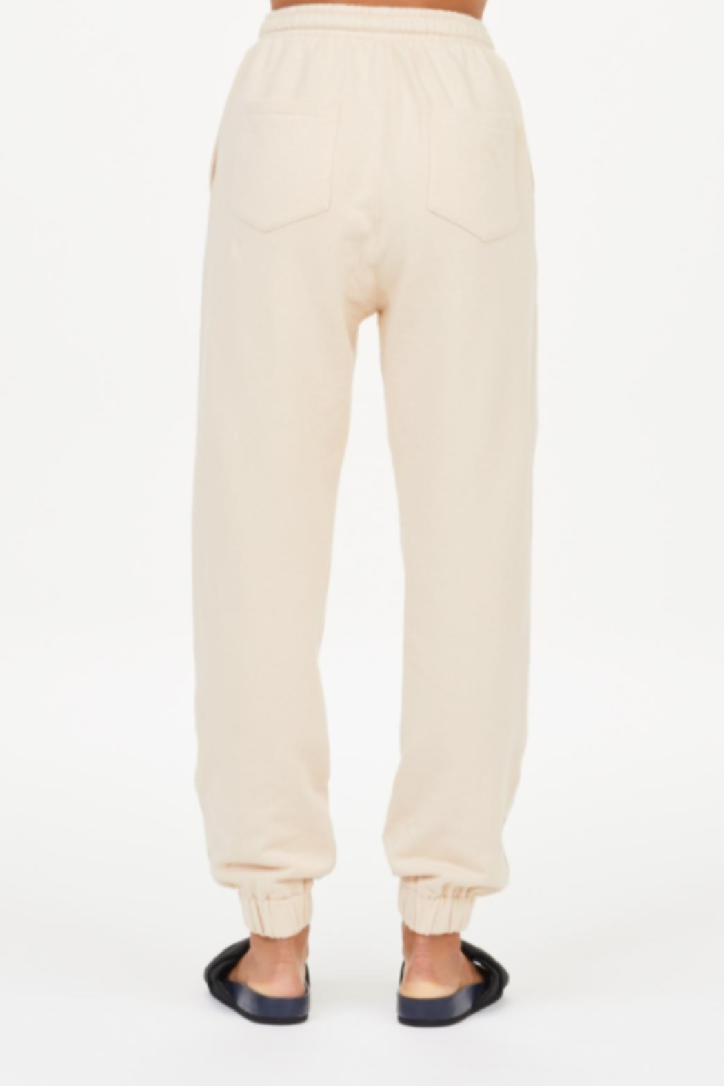 Upside Coveted Cream Joggers - Side Cropped Image