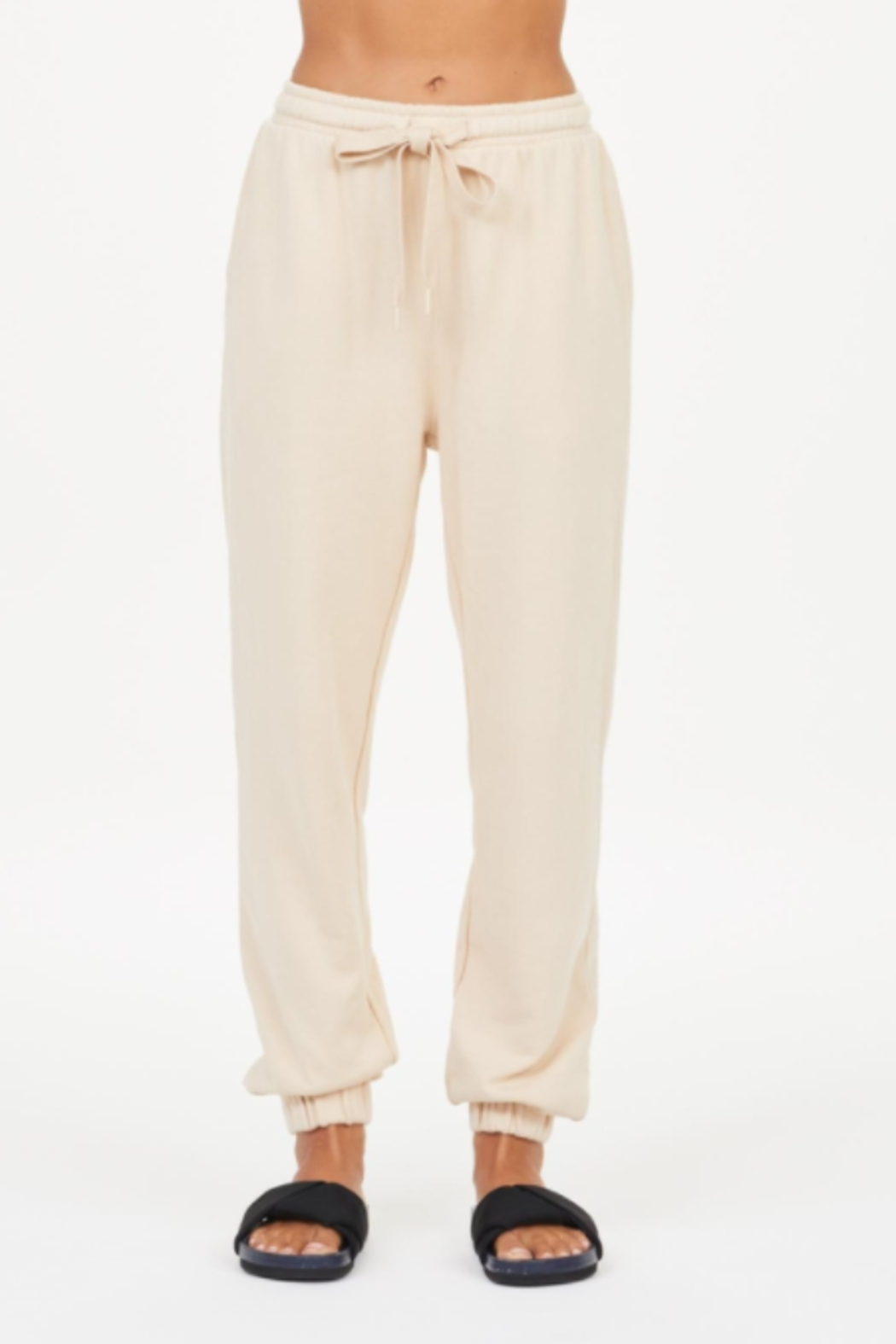 Upside Coveted Cream Joggers - Main Image