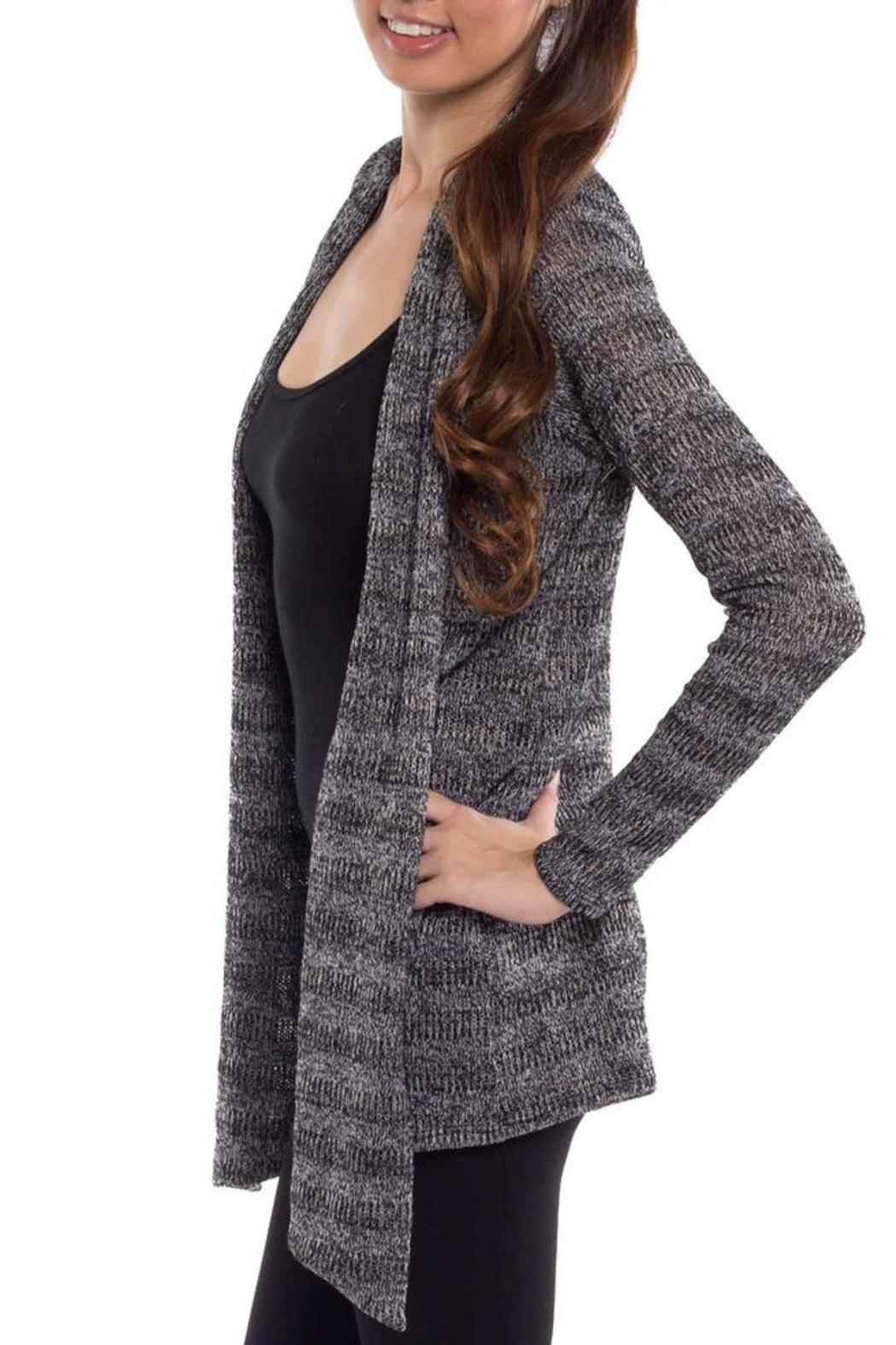 Coveted Clothing Open Knit Cardigan - Front Full Image