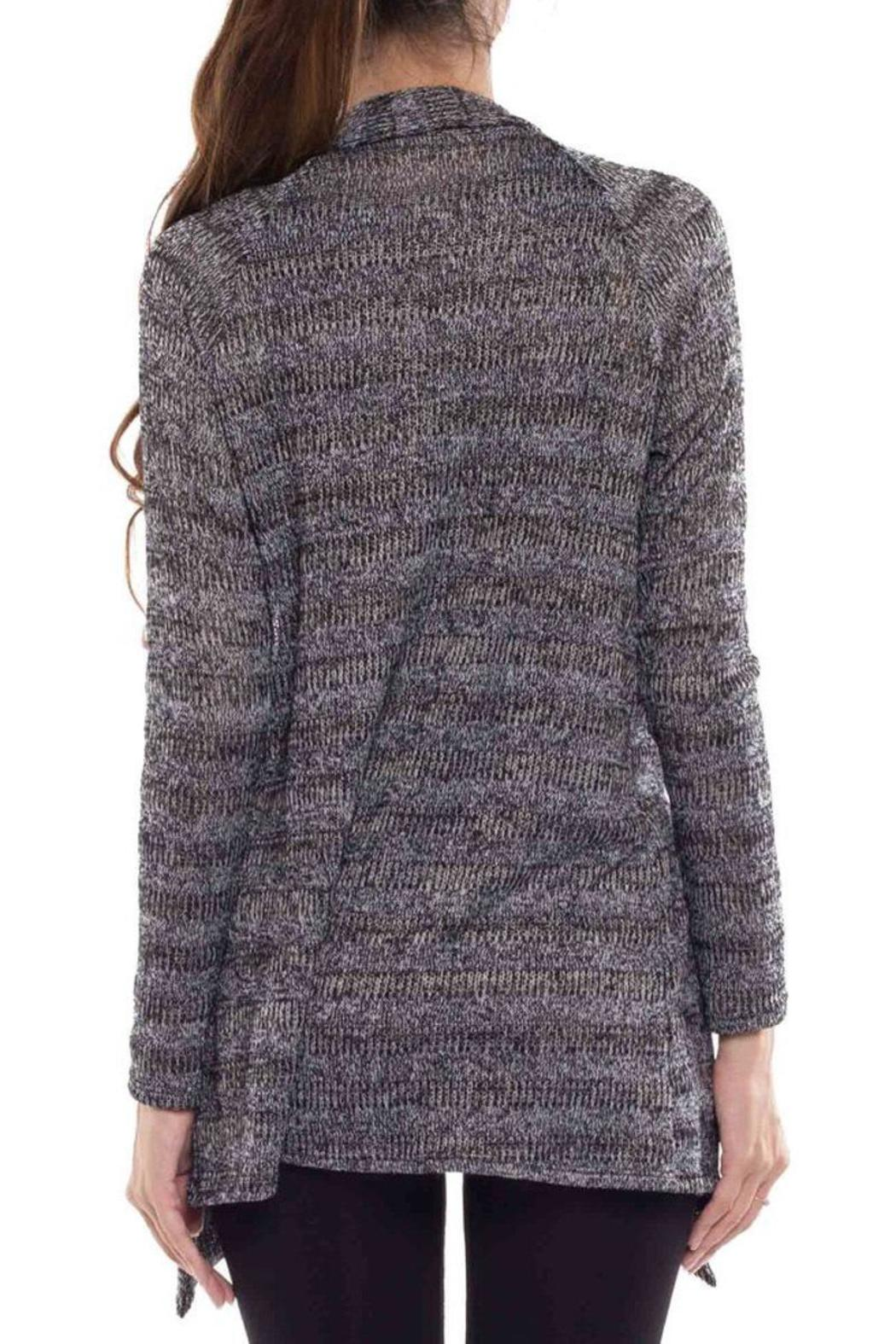 Coveted Clothing Open Knit Cardigan - Side Cropped Image