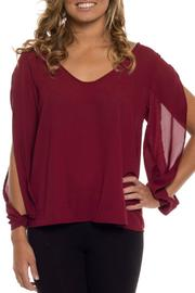 Shoptiques Product: Open Sleeve Blouse  - Front cropped