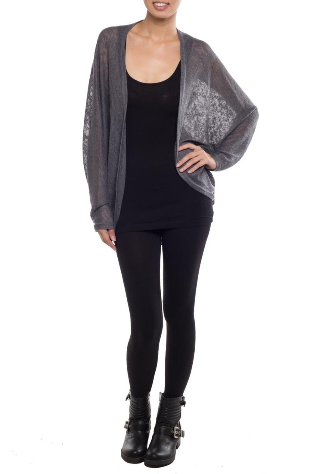 Coveted Clothing Oversize Dolman Cardigan - Back Cropped Image