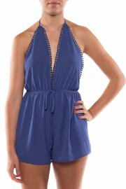 Coveted Clothing V Neck Halter Romper - Front cropped