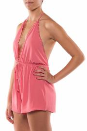 Coveted Clothing V Neck Halter Romper - Front full body