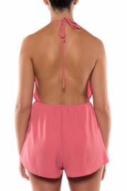 Coveted Clothing V Neck Halter Romper - Side cropped