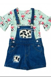 Lady Charm Girls Cow Overalls - Product Mini Image